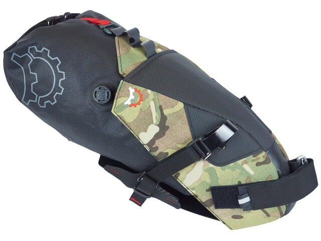 Revelate Designs Terrapin Zadeltas 8L incl. Waterdichte Pakzak, multi camo